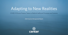 Adapting to New Realities 2020 Expense Management Report