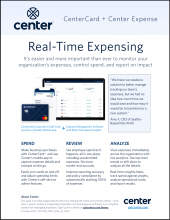 Real-Time Expensing with Center