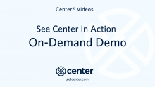 Center On-Demand Demo video